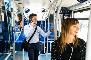 Bus passengers sustainable travel