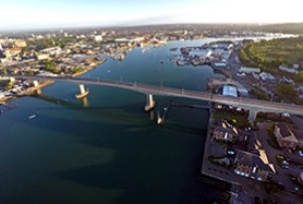 Itchen Bridge south sunshine