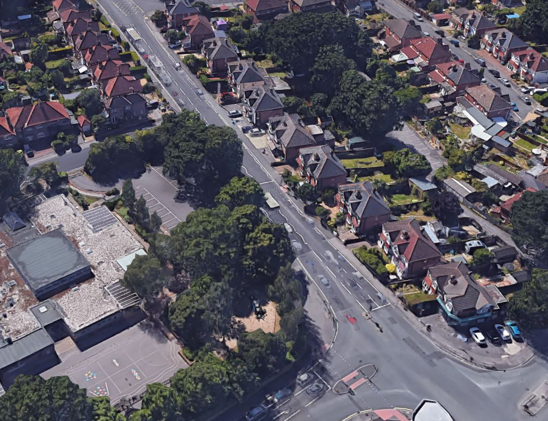 Peartree Avenue google aerial view
